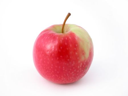 a fresh crunchy red apple ready to eat! photo
