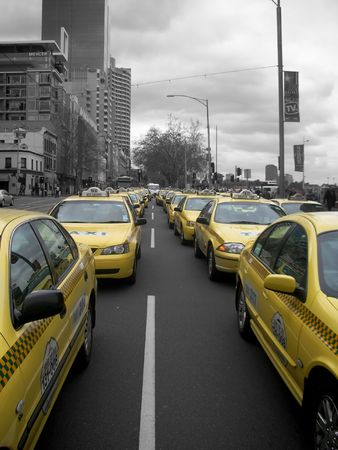 taxi line up