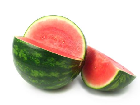 water melon cut on white background