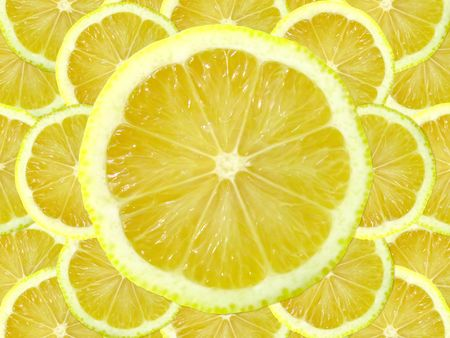 fresh lemon slice            Stock Photo