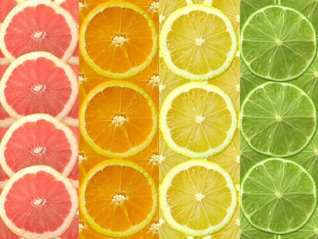 fresh citrus slices