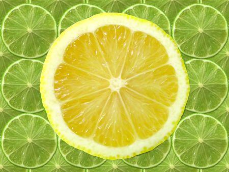 fresh lime lemon slice