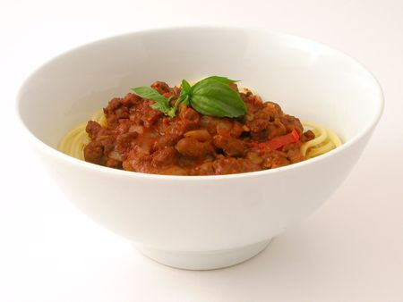 Bowl of Spaghetti Bolognaise...            Stock Photo - 927081