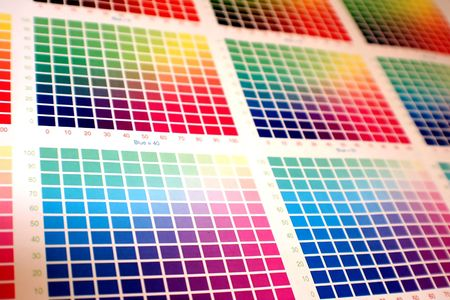 cian: different color charts on white paper - pick your favourite!