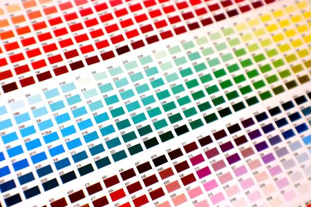 different color charts on white paper - pick your favourite!
