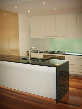 back kitchen: New trendy kitchen in luxury home