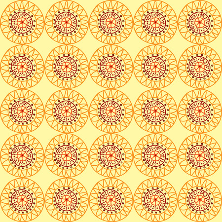 anthropology: Yellow background in African style with colorful elements