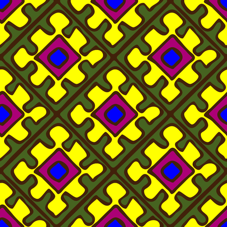 anthropology: Seamless pattern in African style, brightly colored paints