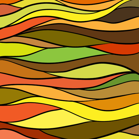 Mosaic pattern of colored stripes in warm tones Illustration
