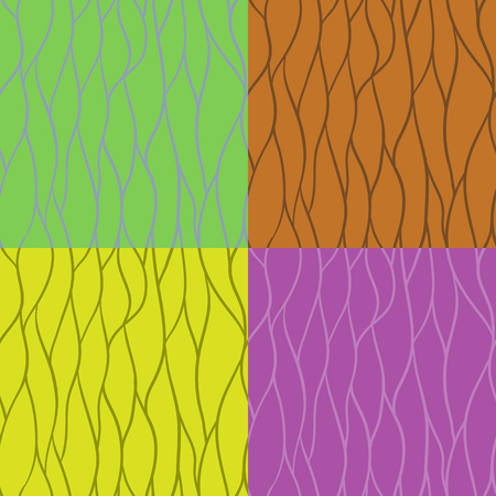 Set of seamless patterns of stripes Vectores