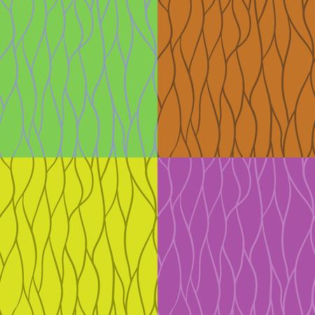 diagonals: Set of seamless patterns of stripes Illustration