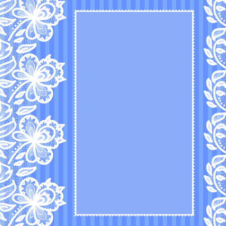 embellished: Greeting card in retro style embellished with lace Illustration