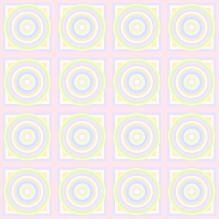 Seamless pattern of geometric shapes in pastel colors