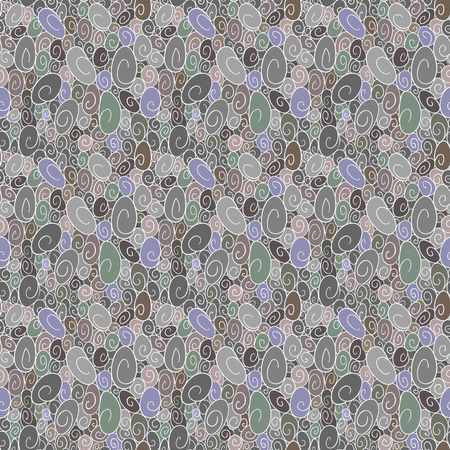 scroll work: Seamless background of scroll work in shades of gray