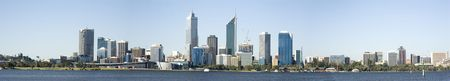 perth: Western Australia - Perth Skyline from Swam River  Stock Photo