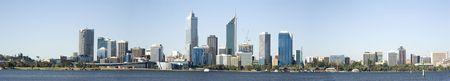 Western Australia - Perth Skyline from Swam River Stock Photo