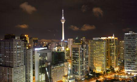 Malaysia -  Kuala Lumpur Cityscape with KLtower (large format photography)