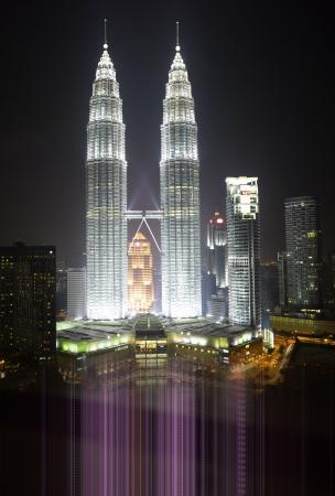 Malaysia -  Kuala Lumpur Cityscape with twin towers Stock Photo - 6378831