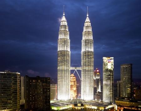 kuala lumpur tower: Malaysia -  Kuala Lumpur Cityscape with twin tower (large format photography)