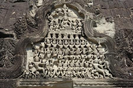 Cambodia Angkor pediment at Angkor wat photo