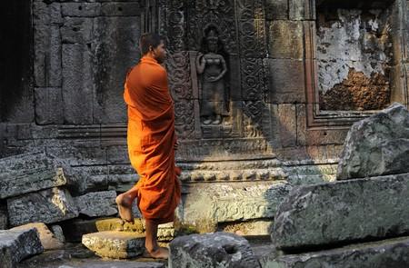 phrom: Cambodia Angkor Ta Phrom temple Stock Photo