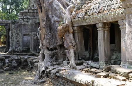 khan: Cambodia Angkor Preah Khan temple Stock Photo