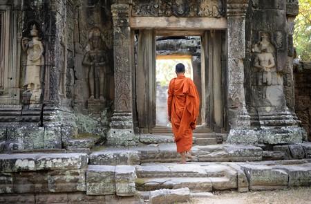 angkor: Cambodia Angkor Ta Phrom temple Stock Photo