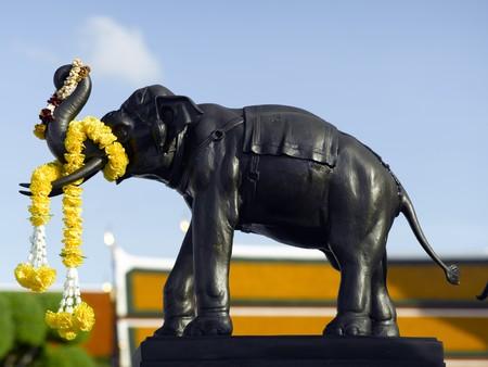 Thailand Bangkok Wat Arun temple - elephant statue photo