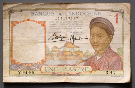 cambodge: Old one french indochine piastre