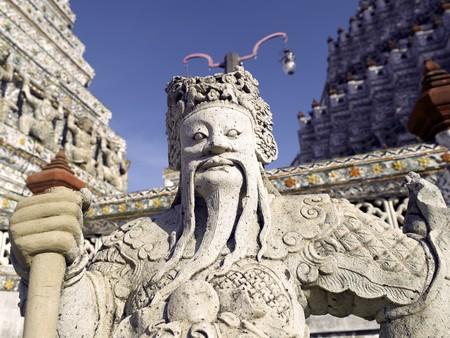 wat arun: Thailand Bangkok Wat Arun temple - sculptures