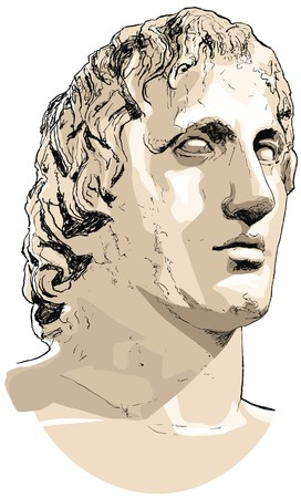 the statue of Alexander the great photo