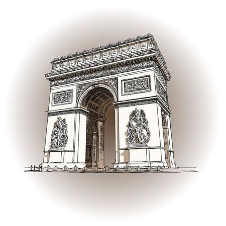 triumphe: Paris, Arc de triumphe Stock Photo