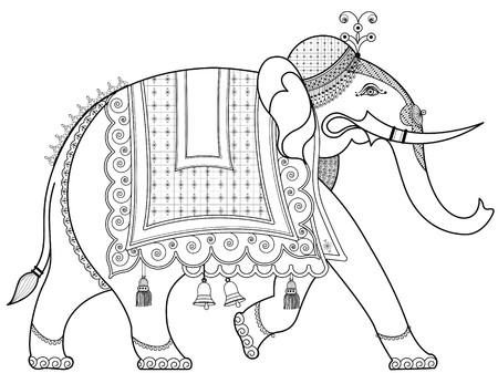 Decorado elefante indio  Foto de archivo