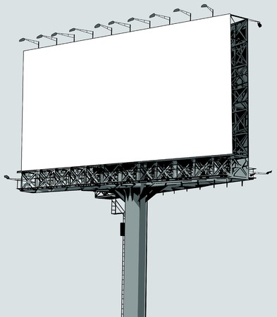 a blank  billboard, put your own text here photo