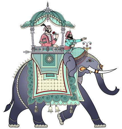 a decorated Indian elephant  photo