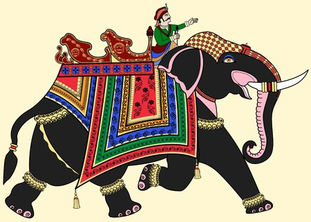 painted toes: a decorated Indian elephant