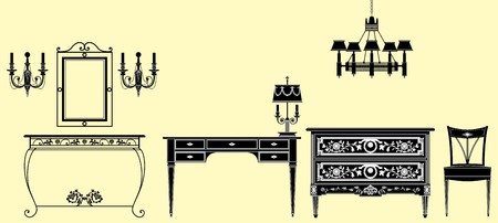 muebles antiguos: colecci�n de muebles antiguos original