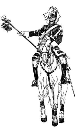 horseman: un cavaliere  Archivio Fotografico