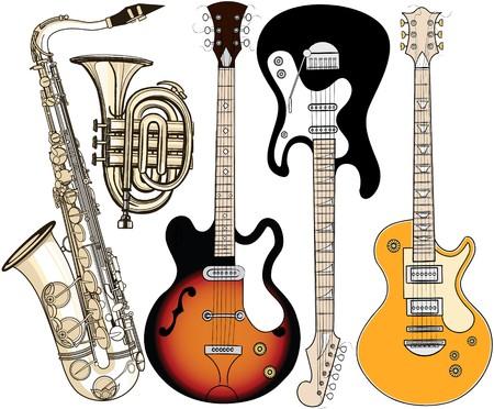 conjunto de instrumentos musicales  Foto de archivo - 7483993