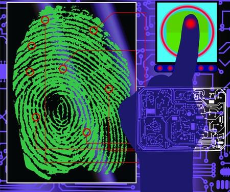 finger-print scanning Stock Photo - 7484014