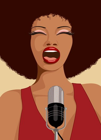 performance art: an afro american jazz singer