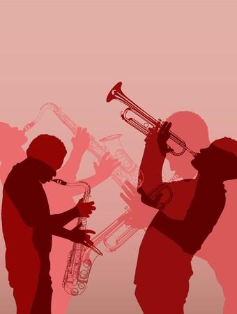 ジャズの真鍮の音楽家