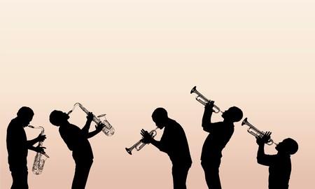 soprano saxophone: músico de jazz de latón