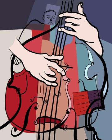 a double bass composition photo