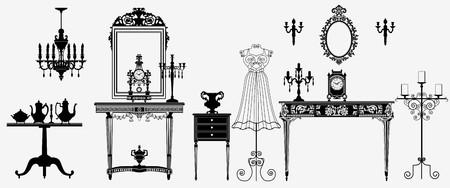 console table: original antique furniture collection