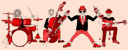 tenore: illustrazione di una jazz band