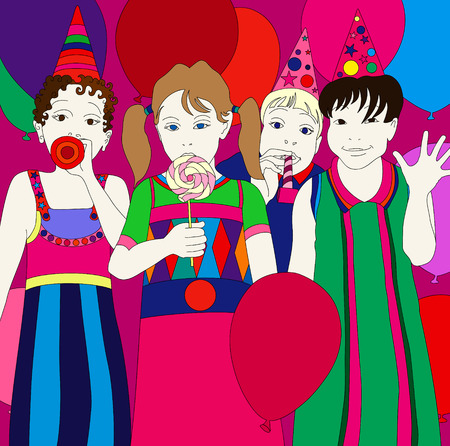 illustration of a children party Vector