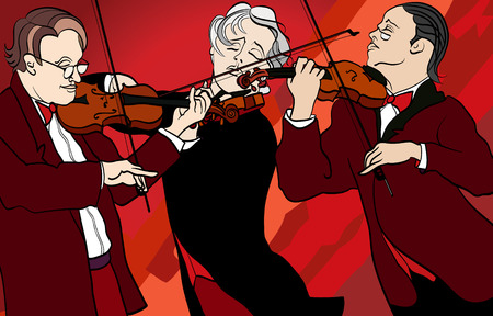 illustration of violin players Vector