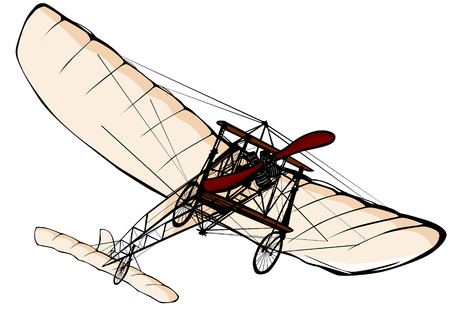 illustration of an old plane Vector