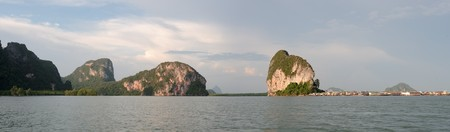 Thailand  Phang Nga - Panorama of muslim village area photo